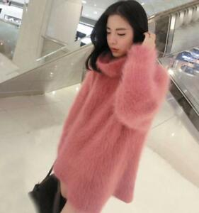 Women-039-s-Pullovers-Turtleneck-Knitted-Warm-Pullover-Sweater-Coat-Loose-Solid-New