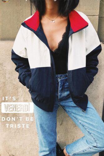 Up Stephanie Farveblok Zip S Melville Hvid Nwt Brandy Ny m marineblå Jacket Sz Y6qX0xwFwn