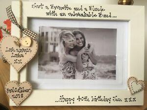 Das Bild Wird Geladen Personalisierte Fotorahmen Von Fohlen Torheit Sisters Best Friends