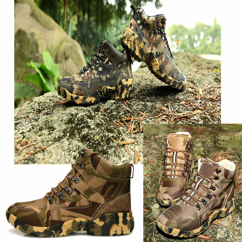 Men's Camo SWAT Outdoor Hunting Camping Waterproof shoes Tactical military Boots