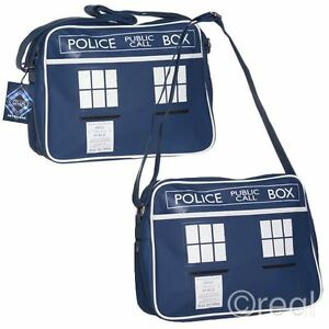 neu doctor who tardis kuriertasche schulter schulanfang. Black Bedroom Furniture Sets. Home Design Ideas