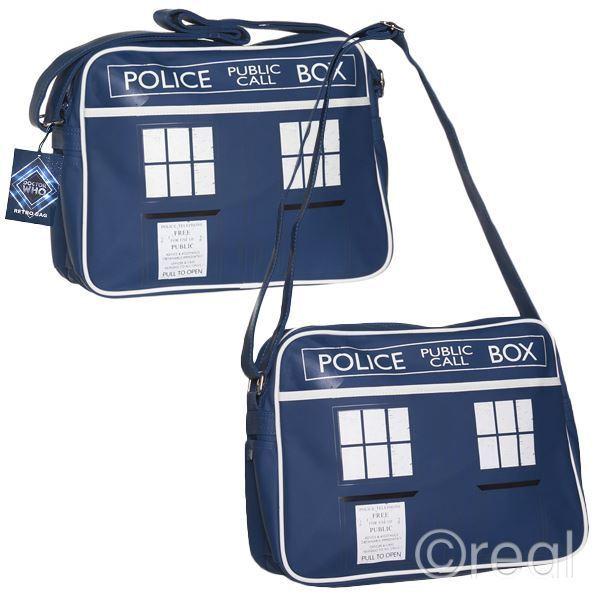 New Doctor Who TARDIS Messenger Bag Shoulder Back To School Gym Retro Official