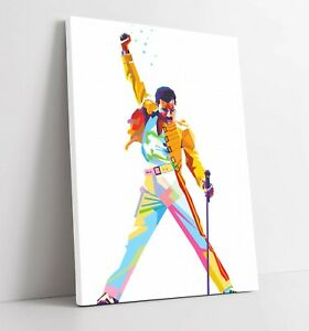 RAINBOW FREDDIE MERCURY -DEEP FRAMED CANVAS WALL SPLASH ART PICTURE PAPER PRINT