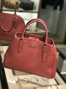 NWT-Coach-F57527-Small-Margot-Carryall-Satchel-Crossbody-Bag-Leather-Rouge