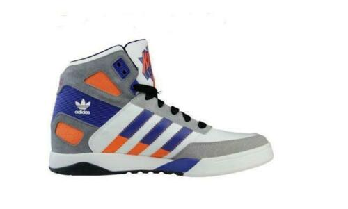 Mens ADIDAS STRONGSIDE New York Knicks White Leather Trainers D66101