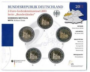 Official Blister With Cologne Cathedral 2011 Adfgj IN Brilliant Uncirculated