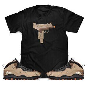 UZI-Camo-T-Shirt-To-Match-Air-Jordan-Retro-10-Rattan-Desert-Camo-Sneakers-S-3XL