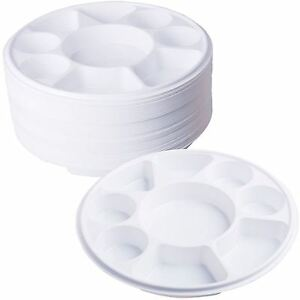 Image is loading 9-Compartment-Plastic-Dinner-Plates-50pc-Party-Home-  sc 1 st  eBay & 9 Compartment Plastic Dinner Plates 50pc Party Home Food Disposable ...