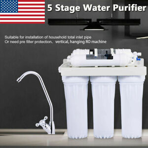 5 Stage New Home Water Purifier Filter Drinking Water Filtration System White
