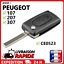 Indexbild 1 - Coque clé plip pour Peugeot 107 207 307 407 807 2 boutons CE0523 clef boitier