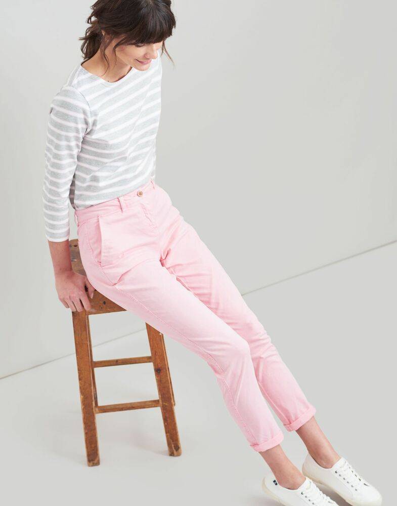 Joules Femme Hesford Chino-rose Pâle
