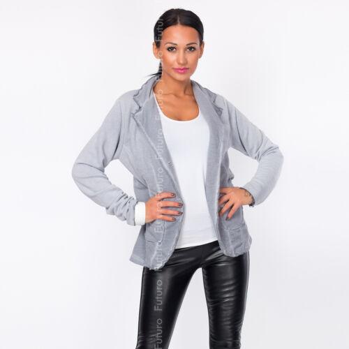 Giacca Donna Con Bottoni /& Tasche Manica Lunga Blazer Cappotto Taglia 8-12 ft1446