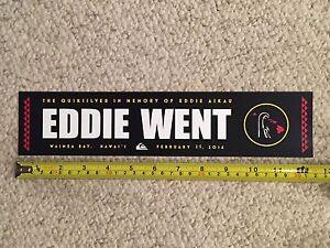 Quiksilver EDDIE WENT Bumper Sticker - Eddie Would Go ...