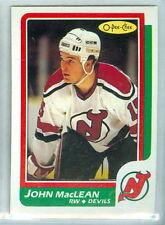 JOHN MacLEAN RC 1986-87 O-Pee-Chee OPC '86 Rookie Card #37 NMM NJ Devils c