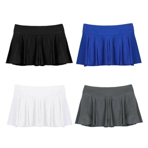 Womens Pleated Mini Skirt Gym Tennis Short Dress Sports Built-in Shorts Skorts