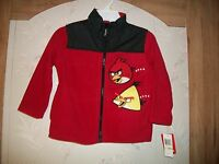 Boys Angry Birds Fleece Jacket Nw/wot Size 4,5, 6 Retail $45.00 Free Shipping
