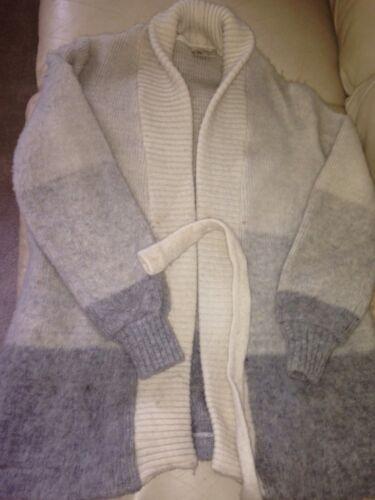 Ltd maglione Avorio nordica Vintage con islandese Donna Grays lana cappotto Hilda M in cintura 5qHqg