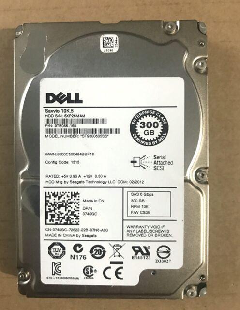 "DELL ST9300605SS 300GB 10K 6G  SAS 2.5"" HARD DRIVE"