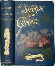 RARE 1894 1stED IN SEARCH OF A CLIMATE HAWAII CAPTAIN COOK PAGANISM ILLUSTRATED