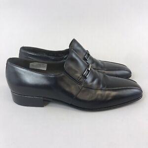 Zapatos-de-vestir-Russell-bromley-Moreschi-Maestro-De-Cuero-Negro-Resbalon-en-inteligente-43-UK9