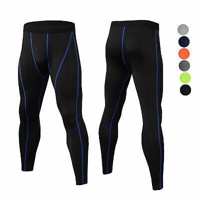 Men Compression Legging Athletic Workout Bottoms Ankle Zipper Tight fit Cool Dry