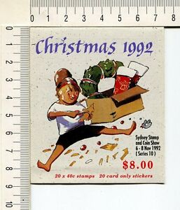 41207) Australia 1992 MNH QEII 40c (x20) Christmas Booklet' Sydney Stamp Show