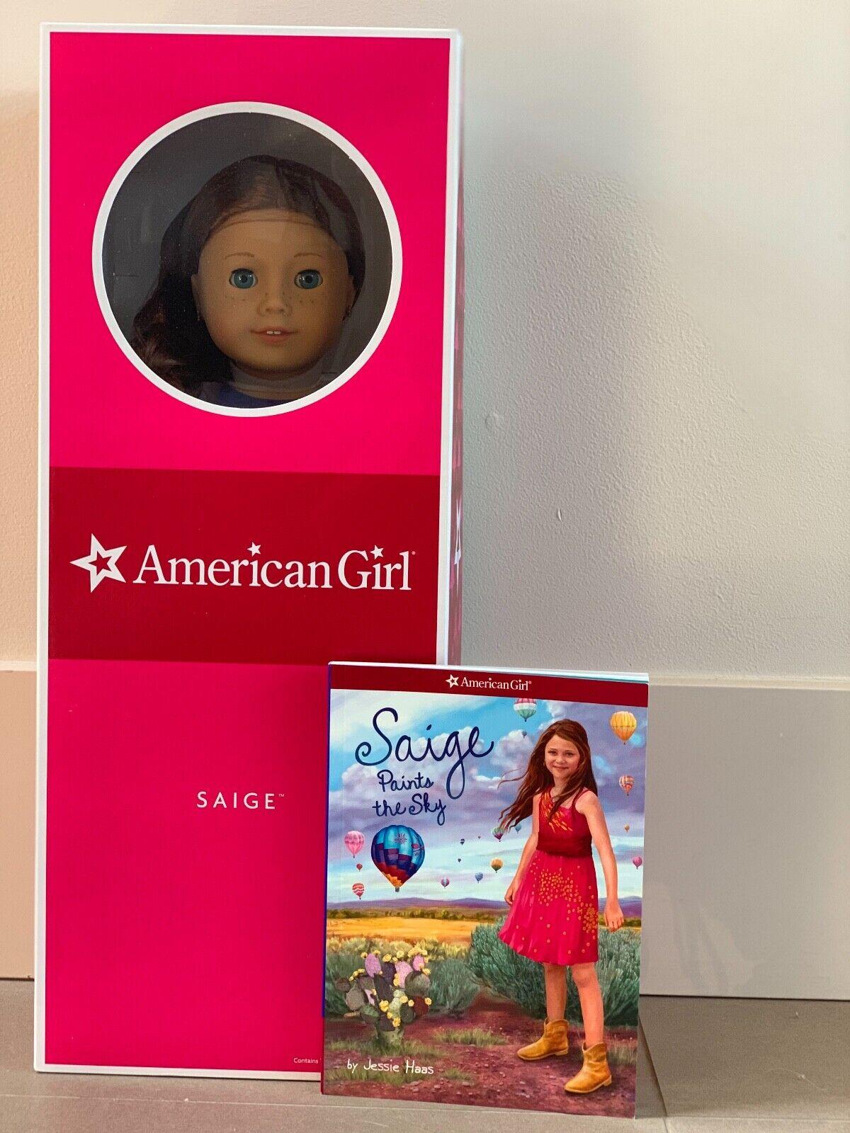 American Girl Doll GOTY 2013 Saige 18  Doll with books 1+2, NIB, RETIrot