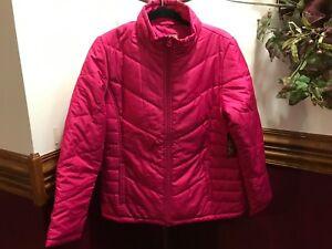 9049ebeda0e14 NEW Faded Glory Women's Hooded Pink Thin Puffer Coat Jacket 12-14 ...