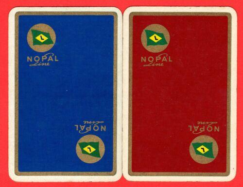 2 Single VINTAGE playing//swap card SHIPS SHIPPING NOPAL LINE #75