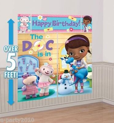 DOC MCSTUFFINS WALL POSTER DECORATING KIT (5pc) ~ Birthday Party Supplies Poster