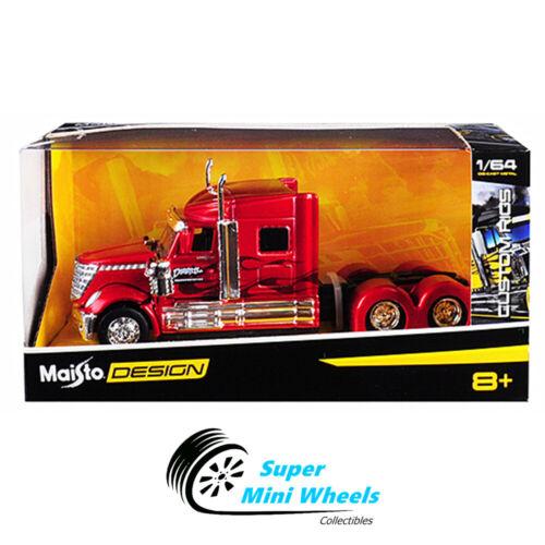 Maisto 1:64 Design Custom Rigs International LoneStar Trucks Red