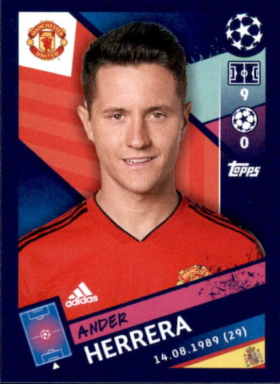 Ander Herrera Topps Champions League 18//19 Sticker 186