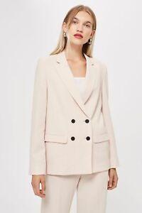 RRP-46-NEW-Ex-Topshop-Smart-Slouch-Comfy-Suit-Blush-Blazer-Size-6-8-10-12