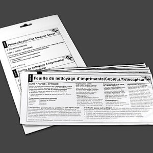 Printer/Copier/Fax Cleaner Sheets (15 sheets in 3 packs)