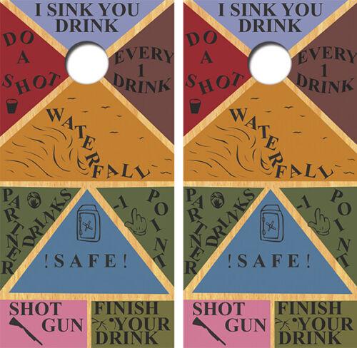 Suprise Throw Cornhole Board Wrap LAMINATED Wrap Decal Vinyl Sticker 3695