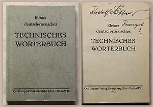 Koch-Kleines-deutsch-russisches-Technisches-Woerterbuch-1941-Nachschlagewerk-xz