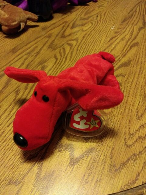Ty Beanie Baby Rover The Red Dog DOB May 30, 1996  MWMT