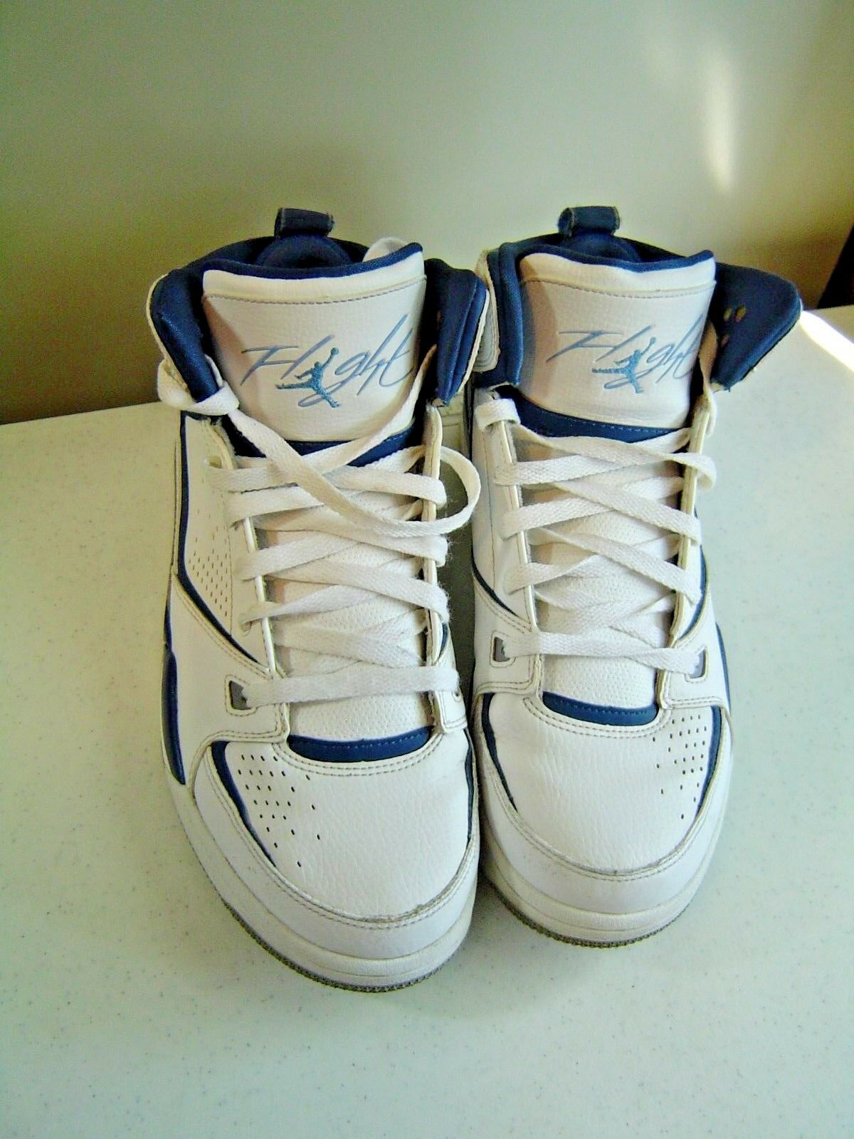 2011 NIKE AIR JORDAN FLIGHT BLUE/WHITE SNEAKERS MEN'S SIZE 10.5 Price reduction Casual wild