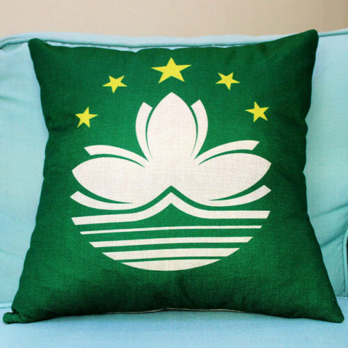 Cotton Linen National Flag Print Pillow Case Sofa Waist Cushion Cover Home Decor