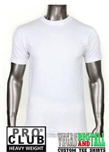 3 New White Pro Club Heavyweight T-Shirts Plain Round Neck Pro-Club Shirt Big 7X