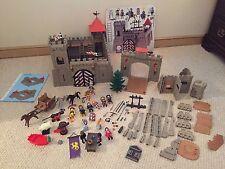 Vintage Playmobil Castle Lot 3667, Knights Many Extra Pieces Drawbridge Complete