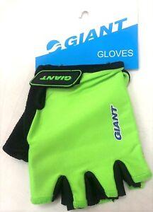 Hi-Vis-fluorescentes-GIANT-velo-Mitaines-Demi-Doigt-Cyclisme-Cycle-Gants