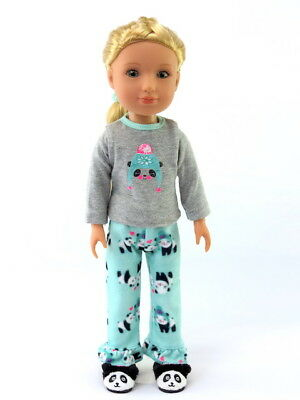 "Summer Flamingo Pant Set Fits Wellie Wishers 14.5/"" American Girl Clothes"