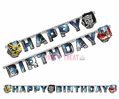 Transformers Party Supplies Prime Birthday Decorations Boys Letter Banner