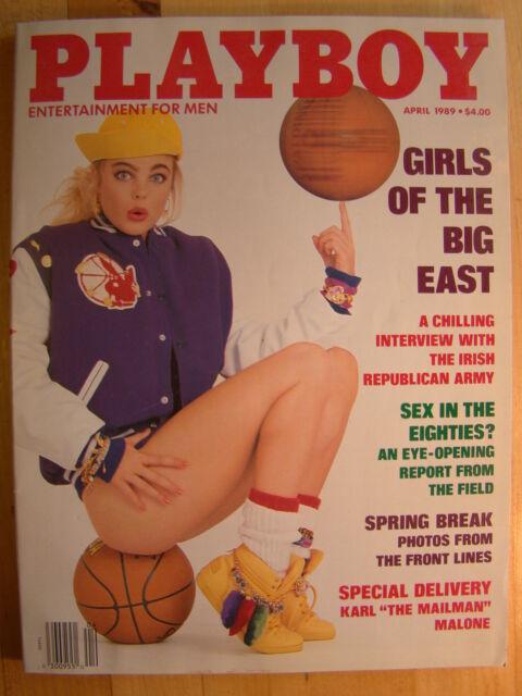 Original Playboy Magazine April 1989 Girls of the Big East Spring Break pict
