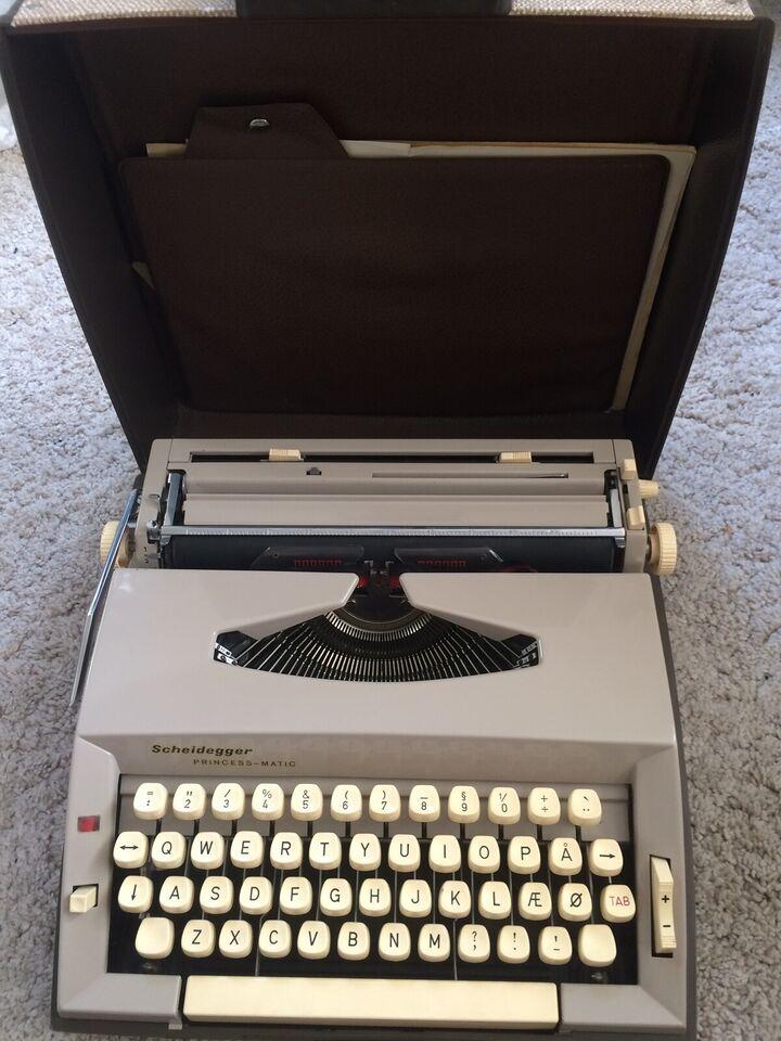 Skrivemaskine, Scheidegger princess-matic