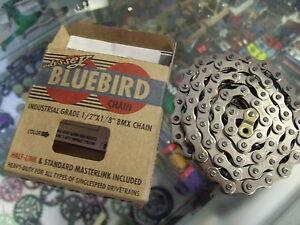 "ODYSSEY BLUEBIRD BMX-FIXED BIKE 1//2/"" X 1//8/"" GOLD BICYCLE CHAIN"