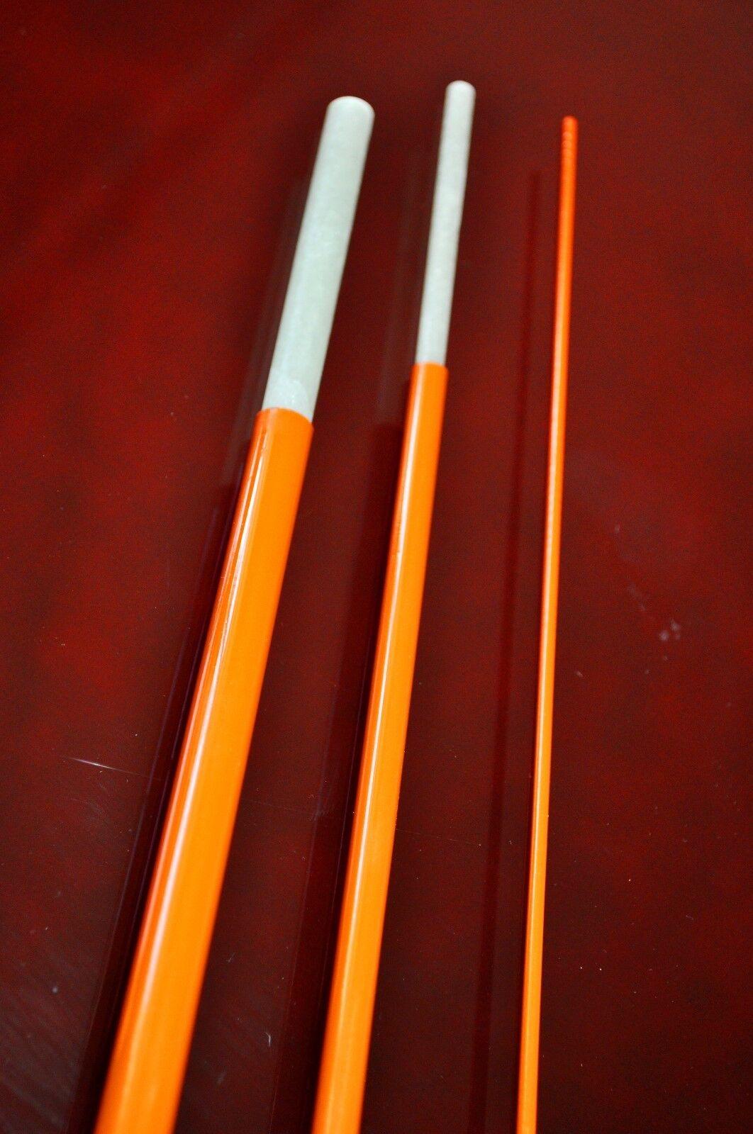 Bloke XLSG Fibreglass fly rod blank 7' 3-piece 3wt. Hot 0range