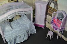 Barbie Size Dollhouse Furniture Modern Comfort Bed Room Set