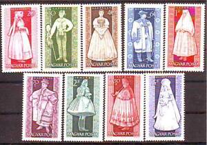 HUNGARY-1963-Provincial-Costumes-MNH